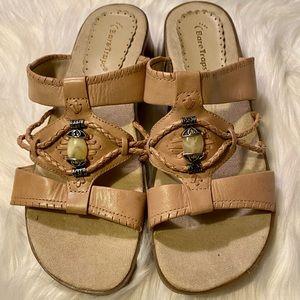 Bare Traps Olinda Leather Whipstitch Sandals NWOT